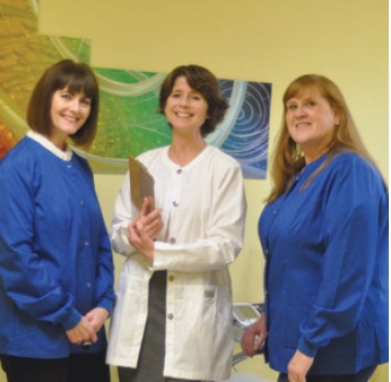 Dr. Groza with Linda, our medical insurance coordinator, and Carol, our dental assistant
