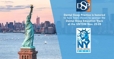 MedMark's Dental Sleep Practice magazine honored to be chosen as the official sponsor of the Dental Sleep Education Four-day Course Session for the Greater New York Dental Meeting
